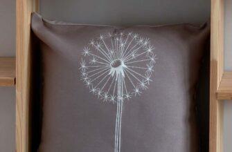 Чехол на подушку «Одуванчик» кофейный