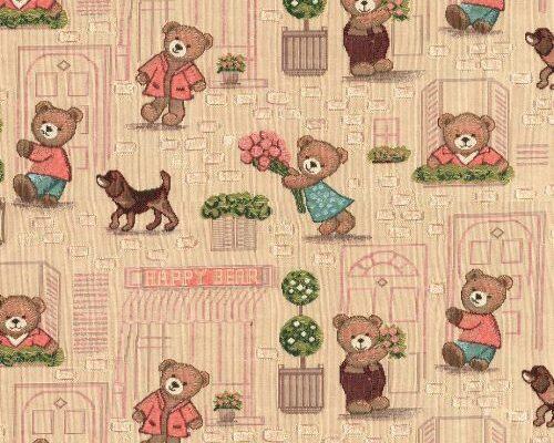 Ткань жаккардовая «Мишки Хэппи»