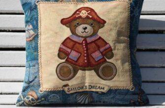 Чехол на подушку «Мишка-Пират»
