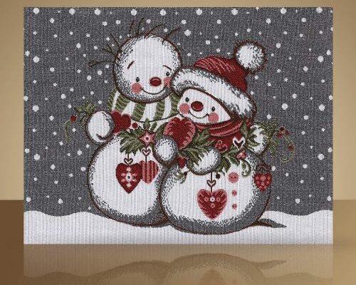 Салфетка «Меланжевая сказка – снеговики»