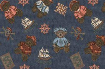 Ткань жаккардовая «Мишки Пираты»