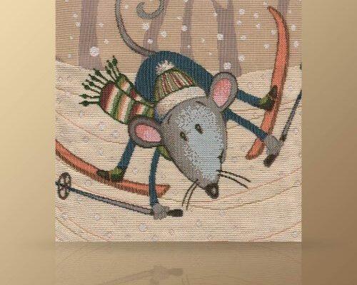 Салфетка «Мышонок лыжник»