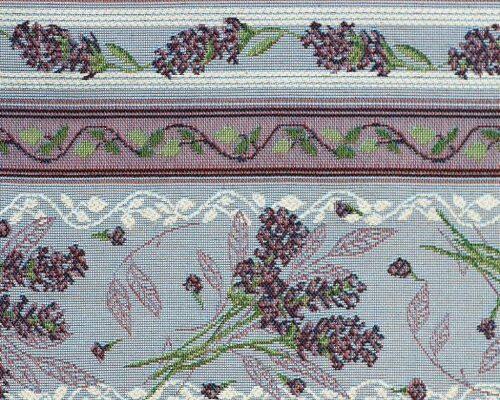 Ткань жаккардовая «Лаванда полоса голубая»