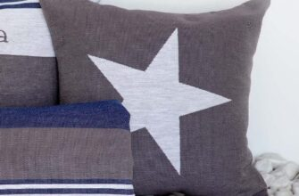 Чехол на подушку «Звезды» асфальт