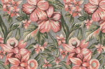 Ткань жаккардовая «Цветочный лен»